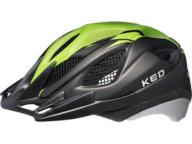 KED Tronus Helmet Green Black Matt